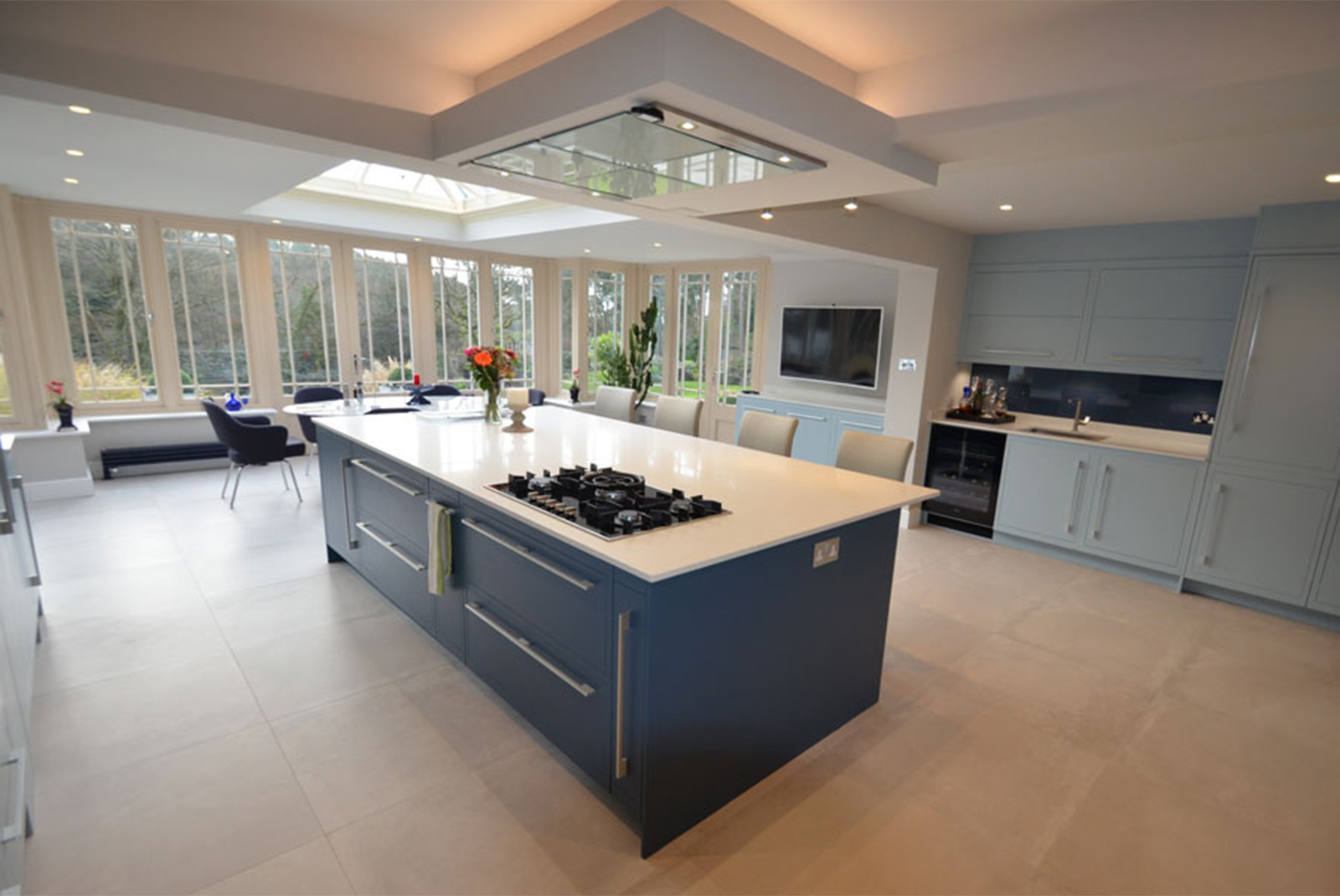 Big blue kitchen haslemere