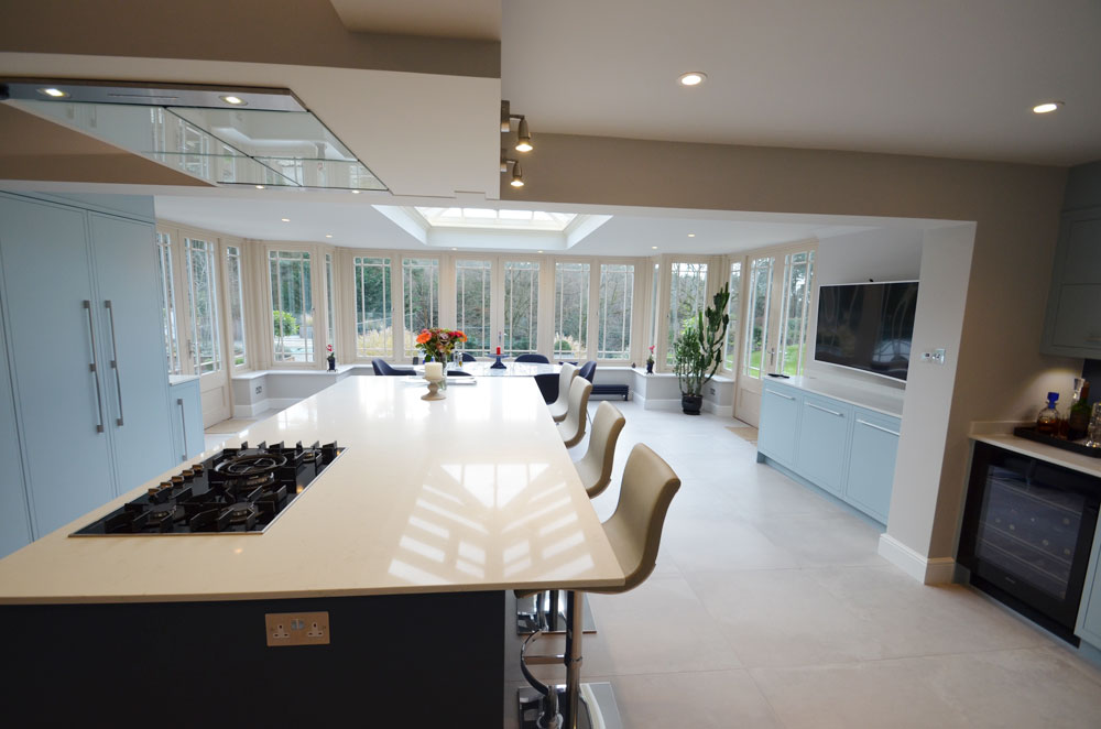 Open plan kitchen haslemere